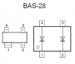 BAS-28 SMT Double Diode
