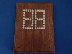LED Scoreboard with Walnut Faceplate (#5624)